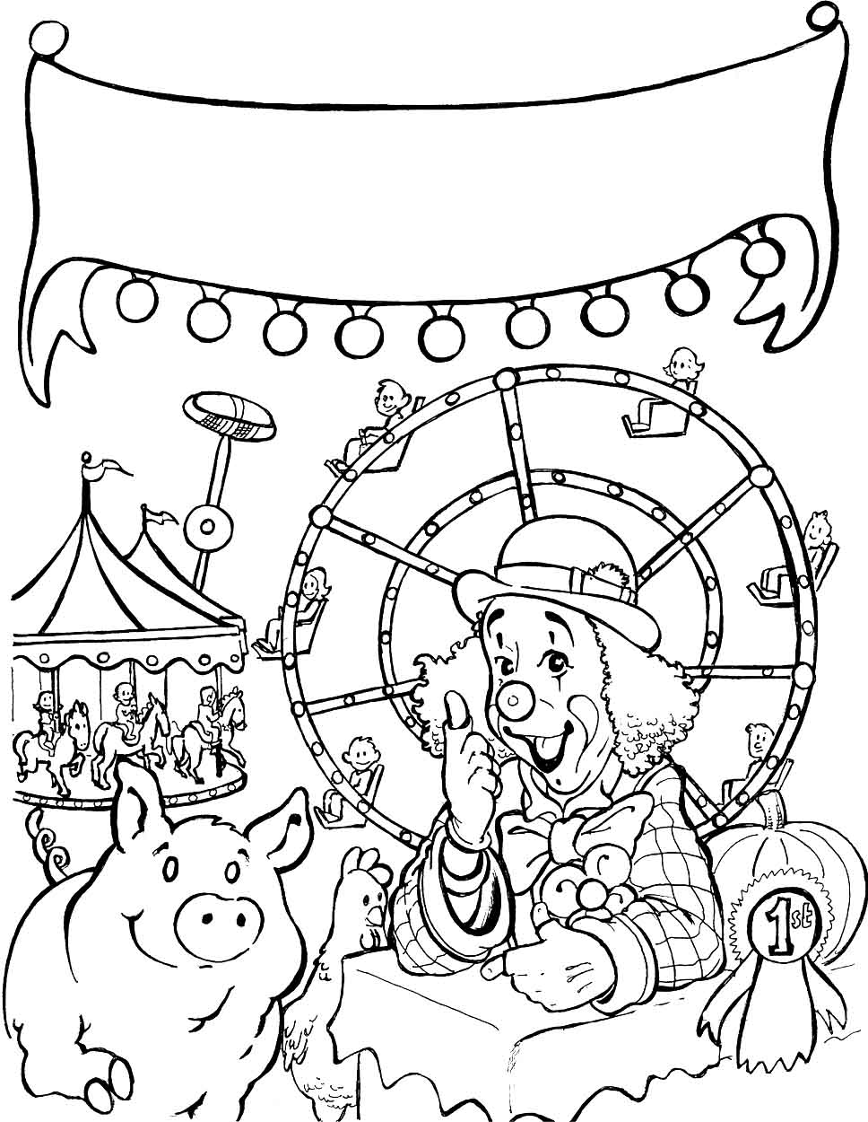 free coloring pages of carnival rides for